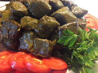 •Dolmeh (stuffed leaves): a meal prepared with rice, ground beef, split pea and special vegetables and wrapped in leaves like grape or cabbage leaves.