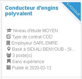 Conducteur d'engins polyvalent Employeur : SARL EMRE
