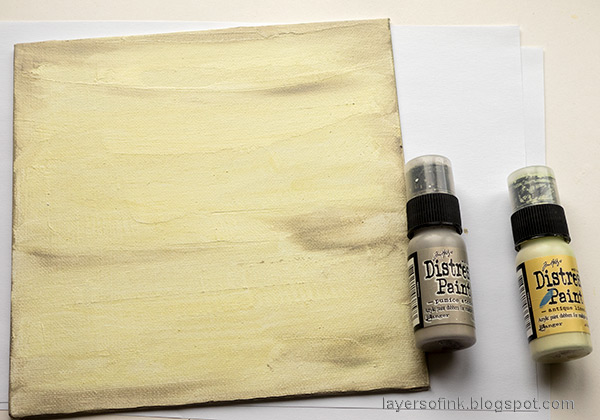 Layers of ink - Peony Mixed Media Canvas Tutorial by Anna-Karin Evaldsson.