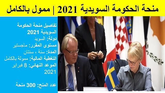 منحة الحكومة السويدية