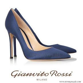 Crown Princess Mary Gianvito Rossi Silk Pumps