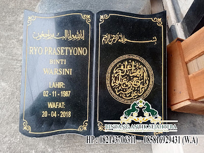 Contoh Nisan Buku Granit