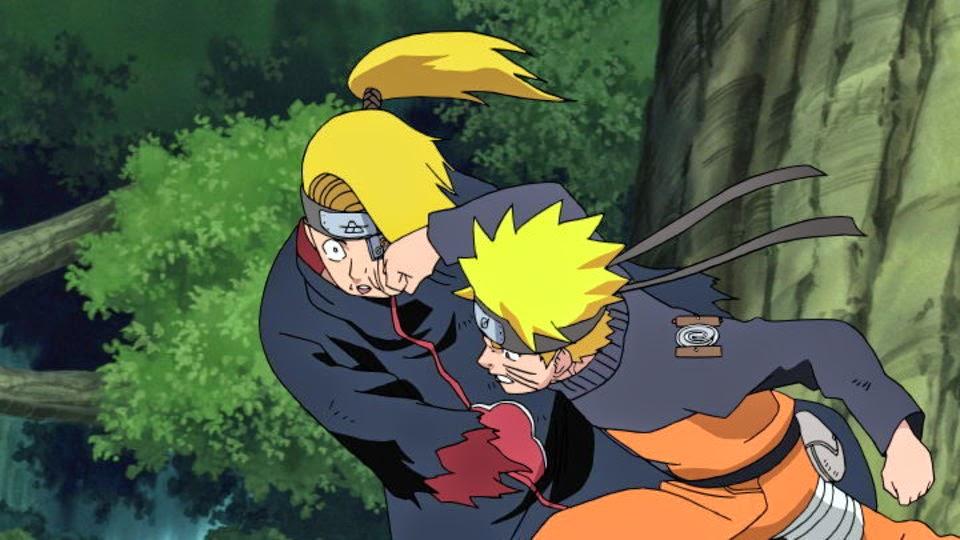 Naruto ataca a Deidara