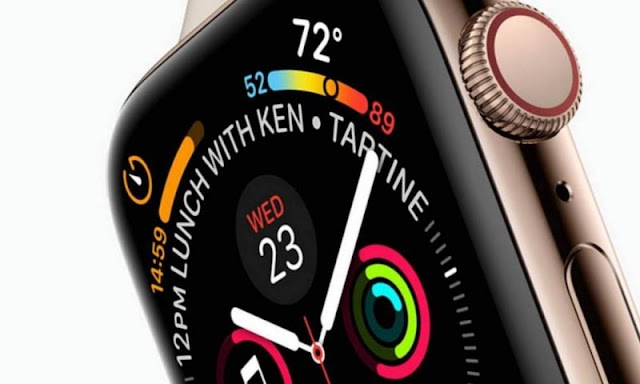 Apple Watch Series four is diluent than previous models however bulkier than the initial