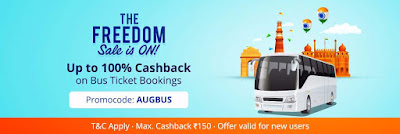 Paytm Loot- 100% Cash back on Bus Ticket Booking Upto Rs. 150 (No Minimum Order Value)
