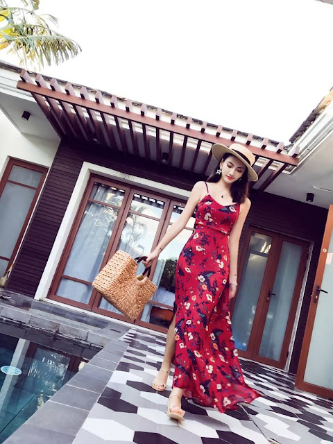 Cua hang ban vay maxi di bien tai Kien Hung