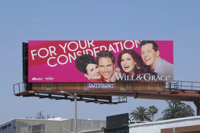 Will & Grace season 10 Emmy FYC billboard