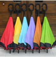 Payung Terbalik 2 Lapis , Payung Unik, Payung Terbalik Khusus Mobil, Jual Payung Terbalik Reverse Umbrella Handel C