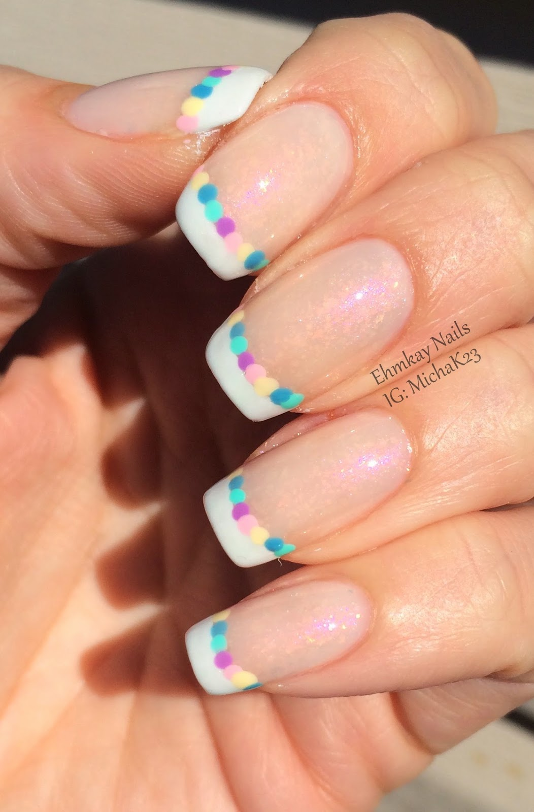 Ehmkay Nails Happy New Year S Eve Nail Art Stamping: Ehmkay Nails: Easter Egg French Manicure