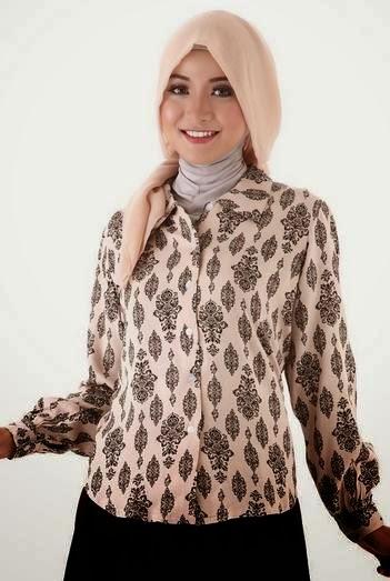 Model baju batik muslim modern tren 2015