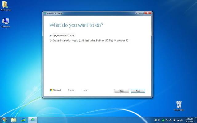 أداة Windows 10 Media Creation