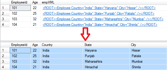 Sql Server: Select or Read XML Column Data from table ~ Asp