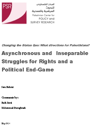 Asynchronous and Inseparable Struggles for Rights and a Political End-Game