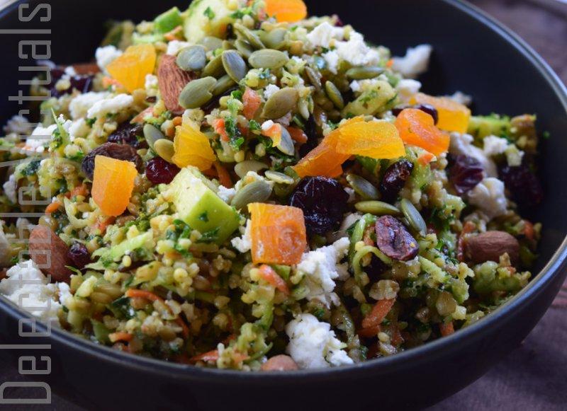 Freekeh, Pearl Millet, Wild Rice Tabbouleh