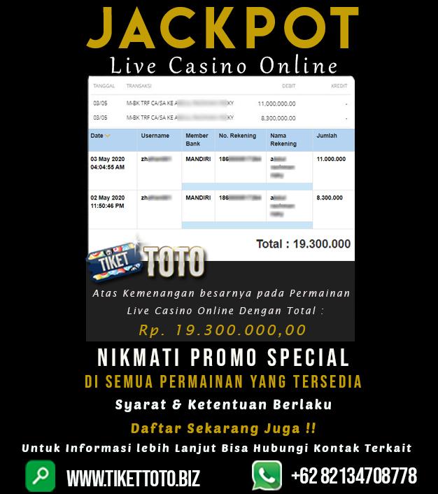 Double Jackpot Pada Permainan Live Casino Online