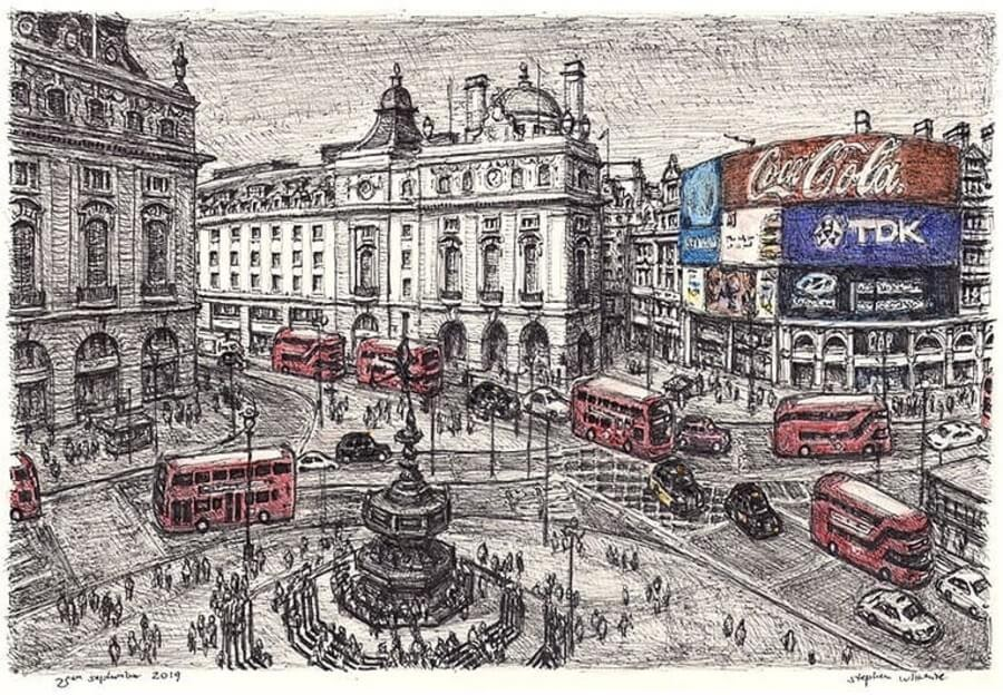 07-Piccadilly-Circus-Stephen-Wiltshire-Urban-Cityscapes-www-designstack-co