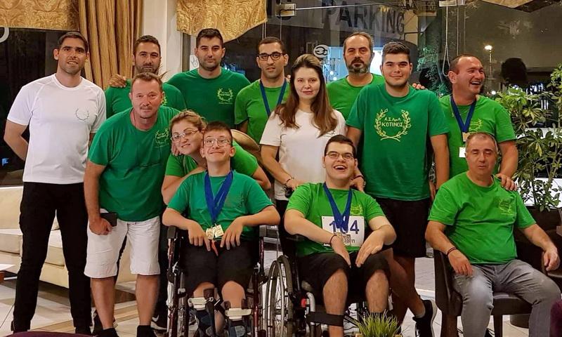 Ένα πανελλήνιο ρεκόρ και 8 μετάλλια ο Α.Σ. ΑμεΑ Κότινος στο Πανελλήνιο Πρωτάθλημα Στίβου