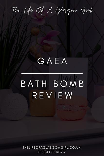 Pinterest Image for Gaea Bath Bombs Review blog post on Thelifeofaglasgowgirl.co.uk