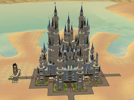 RCT3 Tall Massive Castle 11x12 Custom SceneryI