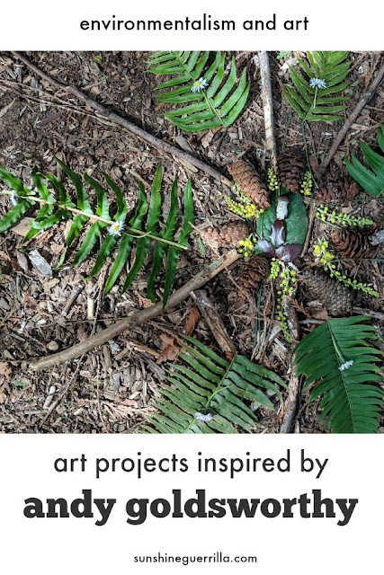An Outdoor Project Inspired by Andy Goldsworthy that Kids Can Do at Home