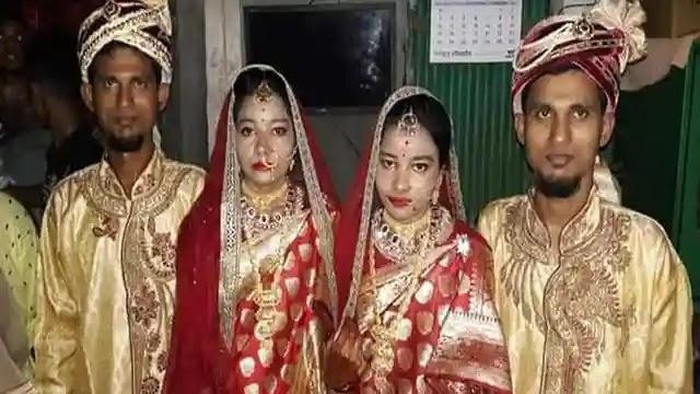 টাঙ্গাইলে যমজ দুই ভাইয়ের সাথে যমজ দুই বোনের বিয়ে