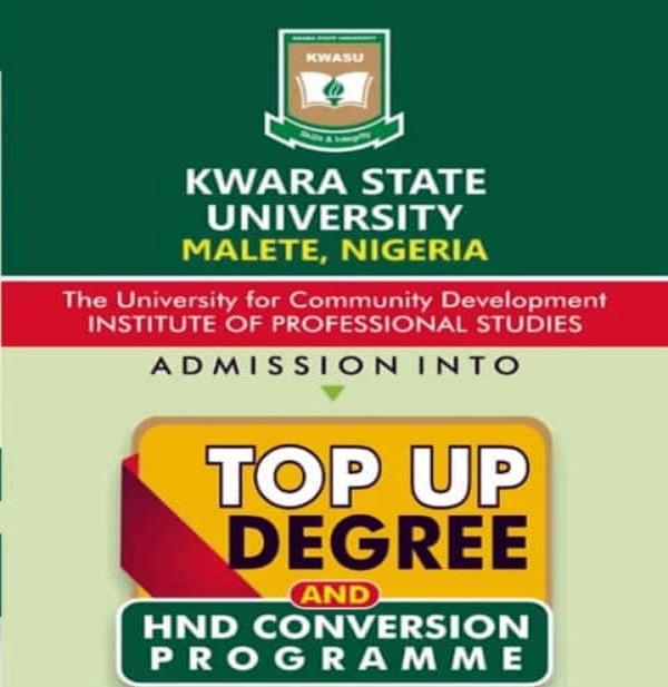 KWASU Top-Up Degree & HND Conversion Programme Form 2020/2021