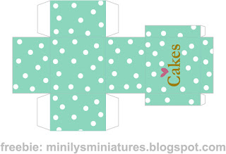 """minilys miniatures"" ""macarons"" ""printable box"" 1:12 mint"
