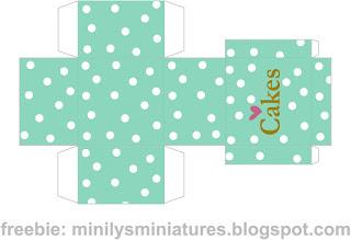 """minilys miniatures"" ""macarons"" ""printable box"" 1:12 mint"