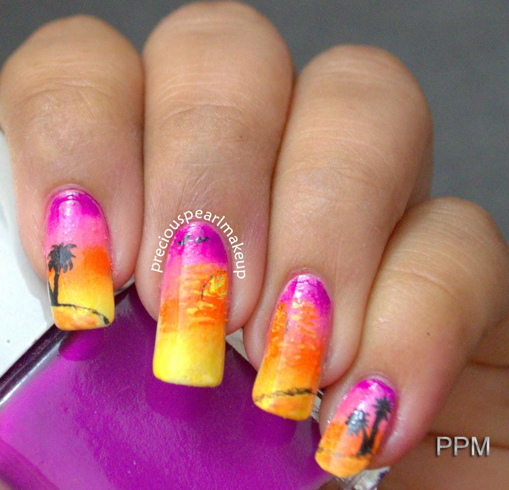 preciouspearlmakeup: Cool Sunset Nails