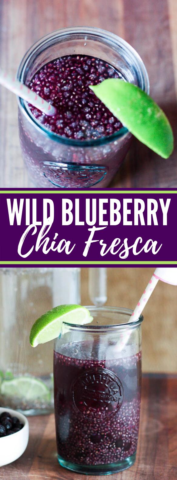 Wild Blueberry Chia Fresca #drinks #healthy