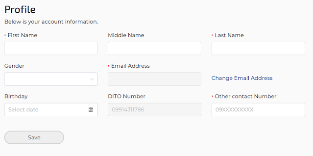 MyDITO - Profile