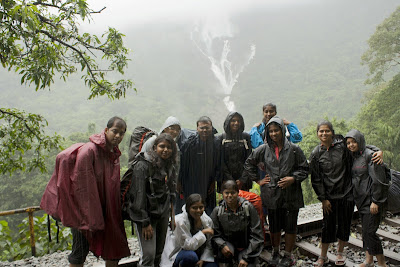 Group photo, Dudhsagar water falls view point