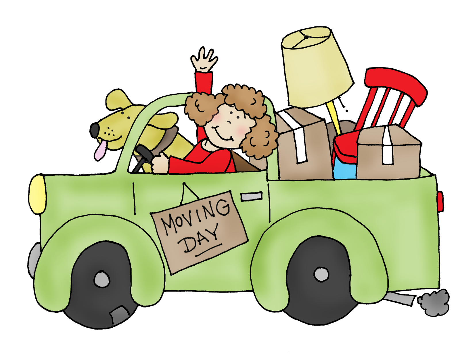 Free Dearie Dolls Digi Stamps: Moving Day