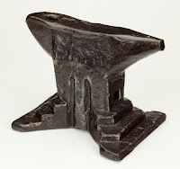 """Anvil"" (Italian, 1400s-1500s).  Wrought iron. The John Woodman Higgins Armory Collection, 2014.1031."