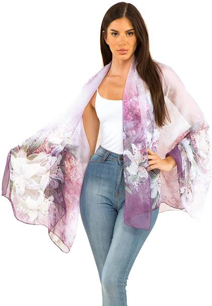 Best Silk Chiffon Scarves Shawls