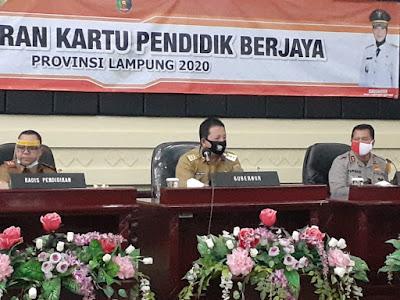 Gubernur Lampung Luncurkan Program Kartu Pendidik Berjaya Bagi Guru Honor