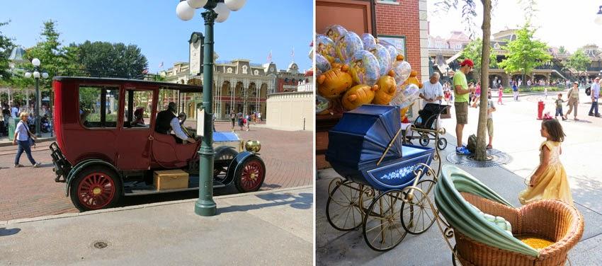 Trucos Disney - paseo en un coche clásico por Main street