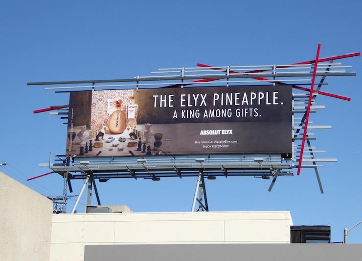 Pineapple king among gifts Absolut Elyx billboard
