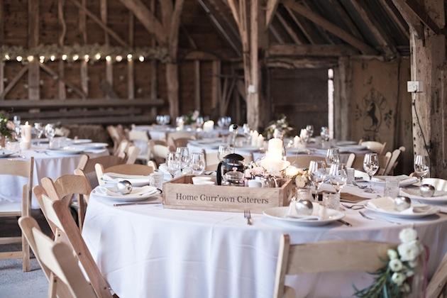 mesa boda rural