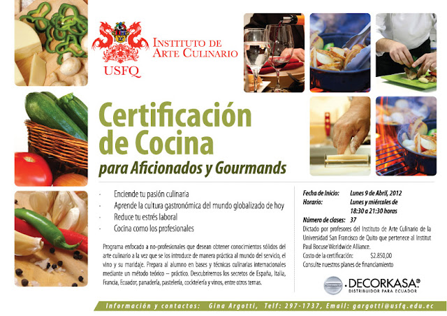 certificaci n de cocina para aficionados y gourmands
