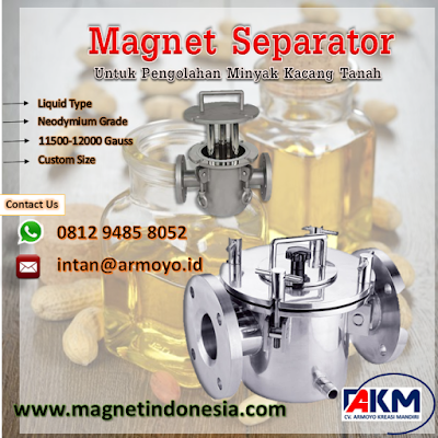 magnet separator type liquid 11500-12000 gauss
