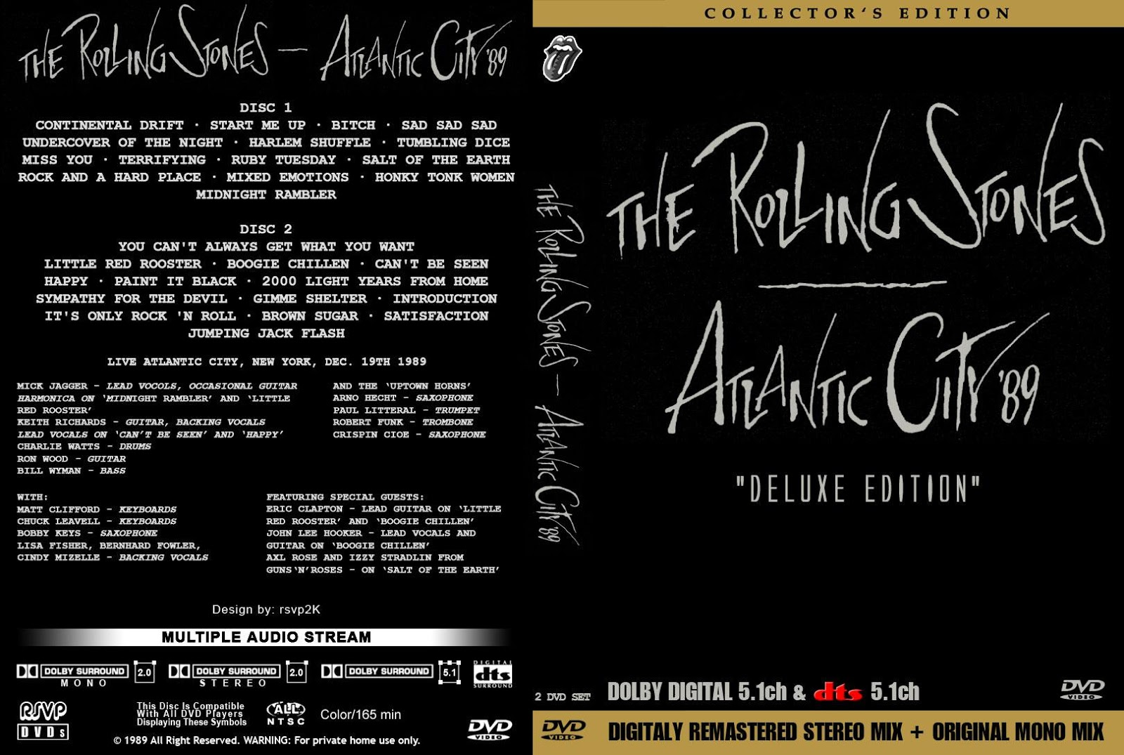 Bootleg Rambler The Rolling Stones 1989 12 19 Atlantic