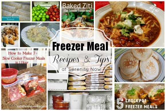 Freezer Meal Recipes and Tips (a Round-Up), at Serenity Now