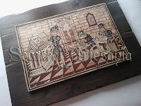 Dentro de los ofícios, este corresponde al de Maestro o profesor, con elementos de socarrat y medievales.Socarrat Artesanía. Soc-Art