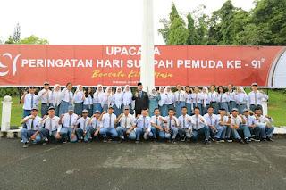 Wali Kota Tarakan Bertindak Selaku Inspektur Dalam Upacara Peringatan Hari Sumpah Pemuda Ke-91 - Tarakan Info