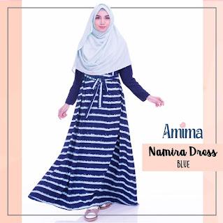 Gamis Amima Namira Dress Blue
