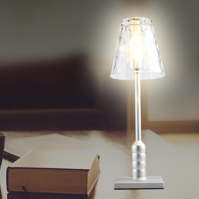 Rechargeable dinner glass table lamp BC973