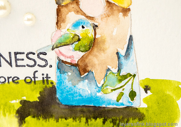 Layers of ink - Watercolor Spring Gnome Tutorial by Anna-Karin Evaldsson.