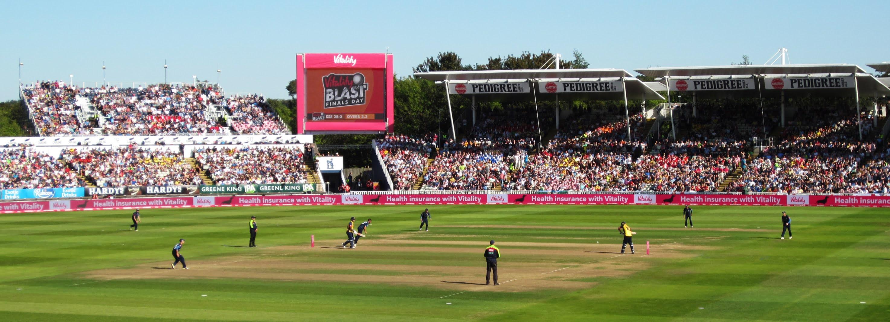 Essex Eagles batting during the 2019 Vitality Blast semi final