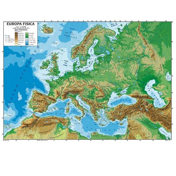 Cartina Muta Dell Europa Fisica.Il Nostro Continente Europa Lessons Tes Teach